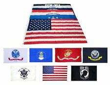 Wholesale Lot 3x5 ft 5 Branches Military Pow and Usa Flags 3'x5' Banner Grommets