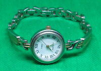 Ladies Timex Essentials Gold & Silver Tone Link Bracelet Watch - New Battery