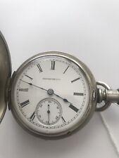 Pocket Watch 18size rare 7j Hampden 1884 Silverode Springfield grade antique