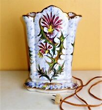 """Vintage M.T.C. Porcelain Ceramic Art Pottery Lamp Vase Made in Italy 10"""" Tall"""