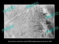 OLD POSTCARD SIZE MILITARY PHOTO BREST FRANCE AERIAL VIEW WWII BOMBING c1940 2