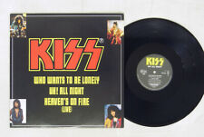 KISS UH ALL NIGHT HEAVEN'S ON FIRE(LIVE) POLYDOR R15R-2005 Japan VINYL 12