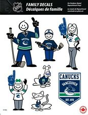NHL VANCOUVER CANUCKS STICK PEOPLE FAMILY DECALS ~ FULL COLOR VINYL DECALS