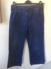 Woman's Diesel Blue Three-Quarter Lengths 3/4 Jeans Uk Size 28