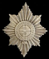 WW1 THE COLDSTREAM GUARDS HELMET PLATE SOLID SILVER
