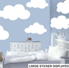 Giant Clouds Pack of 6 Various Sizes Wall Art Stickers - See 2nd image for sizes