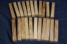 "22 Pc White Oak Pen Blanks 3/4 x 3/4 x 5"" Lathe Turning Craft Wood Lumber"