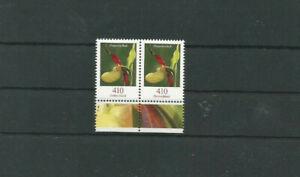 Briefmarke BRD Blumen Dauerserie Frauenschuh Paar Mi.Nr. 2768 postfr.