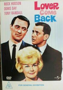LOVER COME BACK DVD 1961 Rock Hudson, Doris Day, Tony Randall Movie - AUSTRALIAN