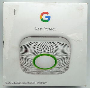 Factory Sealed Google Nest Protect Smoke and Carbon Monoxide Alarm S3003LWES