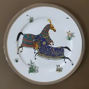 HERMES Cheval d'Orient  Porcelain Plate Tableware Horse Animal Dish