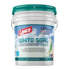 5 gal. white seal plus reflective roof coating | waterproof acrylic sealer wall