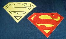 Superman Embroidered Chest Emblem Logo set Cosplay Christopher Reeve