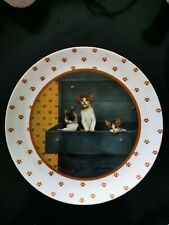 Vintage 1988 Vandor Lowell Herrero Plate 3 Little Kittens in the Bureau 7.75""
