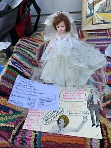 Guy Selling Grandmas Vintage 1950S Bride Girl Doll With Beautiful Dress Nice 👍