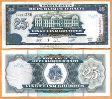 Haiti 2009 GEM UNC 25 Gourdes Banknote  Money Bill P- 266d