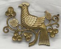 RARE Vintage 1966 Syroco Gold Partridges  #7020 bird peacock