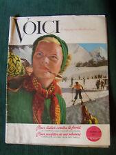 VOICI no 17, le magazine du bonheur - decembre 1946 - James Couttet, ski