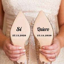 Pegatinas zapatos boda para novia Sí Quiero personalizadas con fecha
