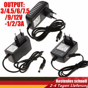 AC 100-240V to DC Netzteil Steckernetzteil Ladegerät Adapter Konverter Kabel DE