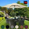 Garden Parasol 3 Sun Shade Outdoor Patio Umbrella Crank & Tilt - More Colours