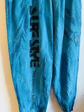 Surf Style vintage windbreaker pants One Size neon Teal Black Tie Dye 90s