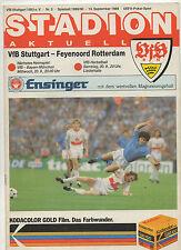Orig.PRG    UEFA Cup  1989/90    VfB STUTTGART - FEYENOORD ROTTERDAM  !!  SELTEN