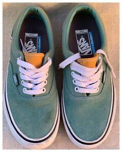 Vans Ultra Cush Teal - Pale Blue /Orange Suede Canvas Sneakers Men's Sz 7 Unused