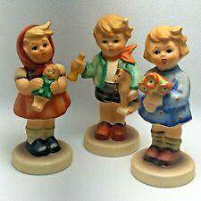 Hummel 239 A  B & C Children Trio Set Girl w/ Doll & Flower Boy w/ Horse German