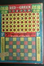 LARGE VINTAGE LOTTERY PUNCH BOARD  BAR DRUGSTORE BANK CASINO GAMBLING GAME RARE