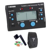 New Boss TU-30 Tuner & Metronome Practice Companion + Guitar Strap + Accessories