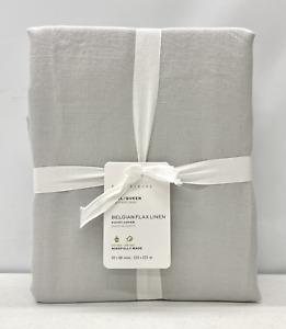 NEW Pottery Barn Belgian Flax Linen FULL/QUEEN Duvet Cover~Soft Gray