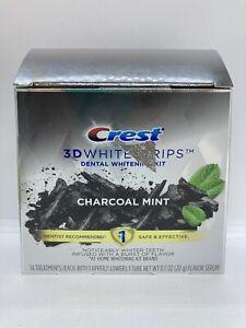 Crest 3D Whitestrips Charcoal Mint 14 Treatments + 1 Tube Flavor Serum