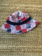 Janie and Jack Navy, Red, White Star and Stripe Summer Hat, 0-6 months