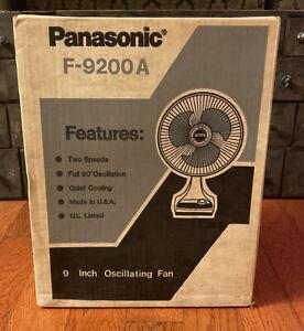 "Brand New Sealed NOS Vintage Panasonic F-9200A 9"" Oscillating Fan"