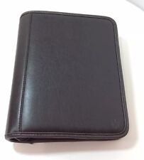 FRANKLIN COVEY Black Executive Planner 7 Ring Cover Portfolio Zip Faux Leather