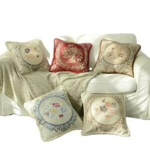 Jacquard Cushion Covers OR Filled Cushion 20'' in Damask Floral Sofa Pillow 50cm