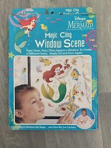 90s Disney The Little Mermaid Magic Cling Window Scene -Never Opened