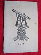 1938 Buff & Buff Mfg Co. Surveying Instruments 56 Page Catalog Brochure