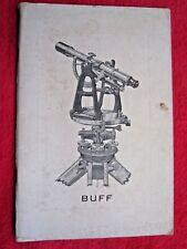 1938 BUFF & BUFF MFG Co. SURVEYING INSTRUMENTS 56 Page CATALOG BROCHURE