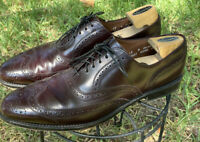 "ALLEN EDMONDS ""Lloyd"" Wingtip Brogue Mens Dress Shoes Burgundy Leather Sz 12 A"