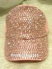 Pink Breast Cancer Awareness Bling Rhinestone Baseball Cap Hat Womans Hope New