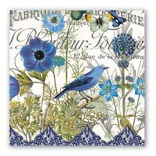 "Michel Design Works Paper Luncheon Napkins ""Blue"" Pkg. of 20 Bluebird"