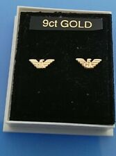 Pair of 9ct gold Armani baby stud earrings