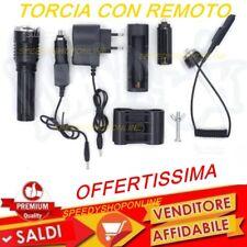 PILA TORCIA  A LED 80000W CON ATTACCO FUCILE PIU' CONTROLLO REMOTO con zoom