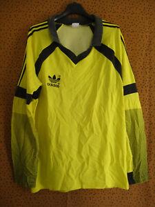 Maillot Adidas Ventex 80'S jaune Vintage Jersey Football Trefoil - L