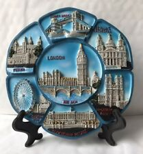 London 3D Ceramic Showpiece Decoration Plate With Stand Boxed Souvenir Gift