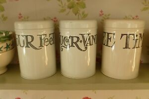 Emma Bridgewater metal tin Toast & Marmalade set 3 canister storage containers