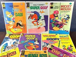 Disney Comic Lot SUPER GOOFY Chip Dale BEAGLE BOYS Mickey Mouse Whitman Gold Key