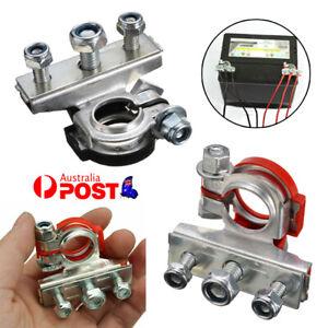 2Pcs 12V Battery Terminals Connectors Clamps 3 Way Kit For Caravan Car Van AU